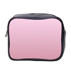 Pink Lace To Puce Gradient Mini Travel Toiletry Bag (two Sides)