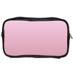 Pink Lace To Puce Gradient Travel Toiletry Bag (two Sides)
