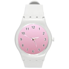 Pink Lace To Puce Gradient Plastic Sport Watch (medium) by BestCustomGiftsForYou