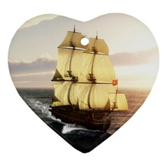 French Warship Heart Ornament by gatterwe