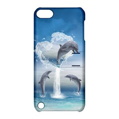 The Heart Of The Dolphins Apple Ipod Touch 5 Hardshell Case With Stand by gatterwe