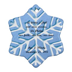 Wedding Favor By Mindy   Snowflake Ornament (two Sides)   84rcu3fxq51c   Www Artscow Com Front