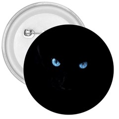 Black Cat 3  Button by cutepetshop