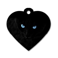 Black Cat Dog Tag Heart (two Sided) by cutepetshop