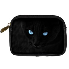 Black Cat Digital Camera Leather Case by cutepetshop