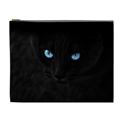 Black Cat Cosmetic Bag (xl) by cutepetshop