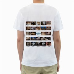 Campbells Dwarf Hamster Tshirt By Juliet Van Ree   Men s T Shirt (white) (two Sided)   8twekdiot4rr   Www Artscow Com Back