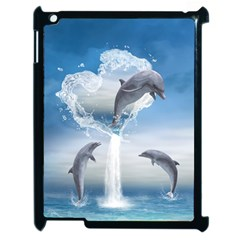 The Heart Of The Dolphins Apple Ipad 2 Case (black) by gatterwe