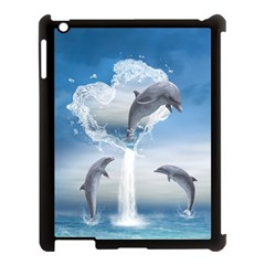 The Heart Of The Dolphins Apple Ipad 3/4 Case (black) by gatterwe