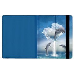 The Heart Of The Dolphins Apple Ipad 2 Flip Case by gatterwe