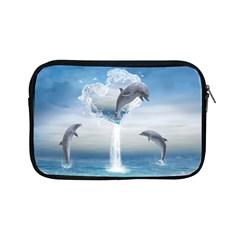 The Heart Of The Dolphins Apple Ipad Mini Zipper Case