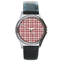 Buchanan Tartan Round Metal Watch (silver Rim) by BestCustomGiftsForYou