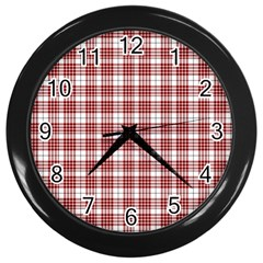Buchanan Tartan Wall Clock (black) by BestCustomGiftsForYou