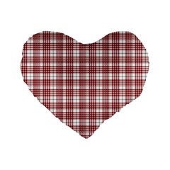 Buchanan Tartan 16  Premium Heart Shape Cushion  by BestCustomGiftsForYou