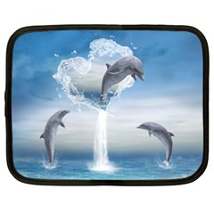 The Heart Of The Dolphins Netbook Case (xxl)