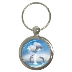 The Heart Of The Dolphins Key Chain (round) by gatterwe