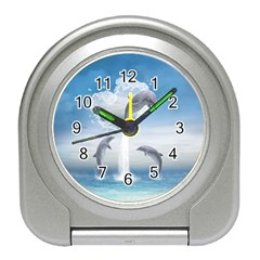 The Heart Of The Dolphins Desk Alarm Clock by gatterwe