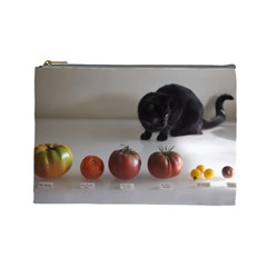 Luna Tomato L Cosmetic Bag By Joy   Cosmetic Bag (large)   V2q2hv724y0c   Www Artscow Com Front