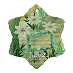 Love Aqua Floral Ornament 1 - Ornament (Snowflake)