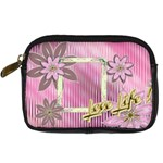 Love Life pink floral digital camera case - Digital Camera Leather Case