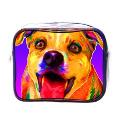 Happy Dog Mini Travel Toiletry Bag (one Side) by cutepetshop