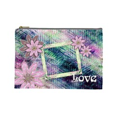 Love Pastel Floral Cosmetic Bag Lg By Ellan   Cosmetic Bag (large)   D973i3va2z56   Www Artscow Com Front