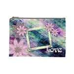 Love Pastel floral cosmetic bag lg - Cosmetic Bag (Large)
