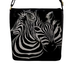 Zebra Flap Closure Messenger Bag (Large) by cutepetshop
