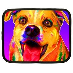 Happy Dog Netbook Case (large) by cutepetshop