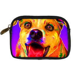Happy Dog Digital Camera Leather Case by cutepetshop