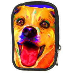 Happy Dog Compact Camera Leather Case by cutepetshop