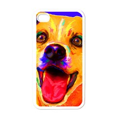 Happy Dog Apple Iphone 4 Case (white) by cutepetshop