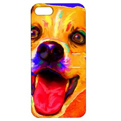 Happy Dog Apple Iphone 5 Hardshell Case With Stand by cutepetshop