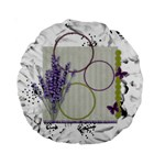 Lavender and butterfly 15  cushion - Standard 15  Premium Round Cushion