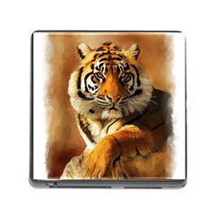 Tiger Memory Card Reader with Storage (Square) by cutepetshop