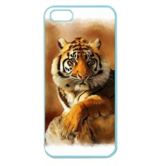 Tiger Apple Seamless Iphone 5 Case (color) by cutepetshop