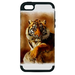 Tiger Apple Iphone 5 Hardshell Case (pc+silicone)