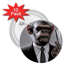 Monkey Business 2 25  Button (10 Pack)
