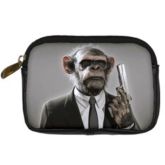 Monkey Business Digital Camera Leather Case by cutepetshop