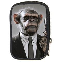 Monkey Business Compact Camera Leather Case by cutepetshop