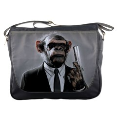 Monkey Business Messenger Bag by cutepetshop