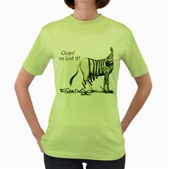 Lost Womens  T Shirt (green) by cutepetshop