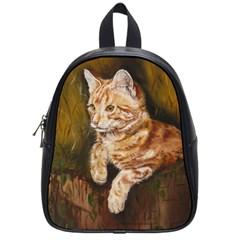 Cute Cat School Bag (small) by cutepetshop