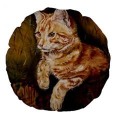 Cute Cat 18  Premium Round Cushion  by cutepetshop