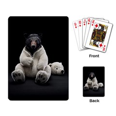 Bear In Mask Playing Cards Single Design by cutepetshop