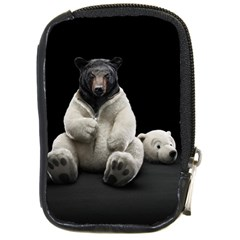 Bear In Mask Compact Camera Leather Case by cutepetshop