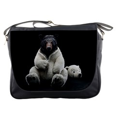 Bear in Mask Messenger Bag by cutepetshop