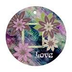 Pastel garden love floral round ornament - Ornament (Round)