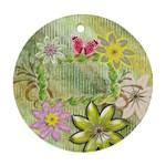 Garden floral round ornament - Ornament (Round)