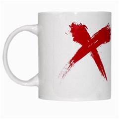 Red X White Coffee Mug by magann